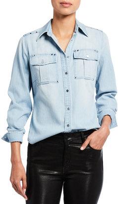 Frame 70s Studded Denim Shirt