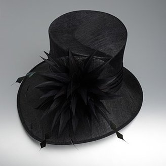 J by Jasper Conran Black asymmetric satin band hat