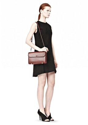 Alexander Wang Chastity Clutch In Embossed Raisin With Pale Gold