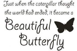 Beautiful Butterfly - black