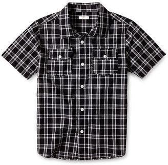 Joe Fresh Black Short-Sleeve Woven Shirt - Boys 4-14