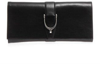 Gucci Stirrup leather clutch