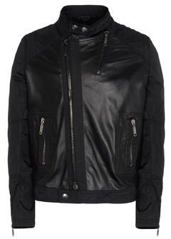 Les Hommes Leather outerwear
