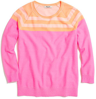 Madewell Contrast Sweater in Neon Stripe
