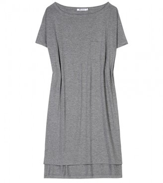 Alexander Wang CLASSIC BOATNECK JERSEY DRESS WITH POCKET