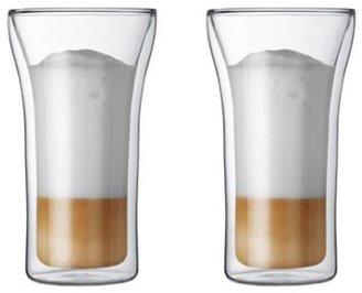 Bodum Set of 2 Assam Double Wall Glasses, Highball