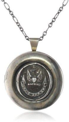 Pyrrha Sterling Silver Mini Never Look Back Large Locket Necklace