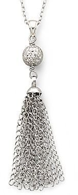 JCPenney Sterling Silver Tassel Necklace