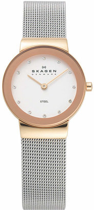 Skagen Women's Stainless Steel Mesh Bracelet Watch 26mm 358SRSC $115 thestylecure.com