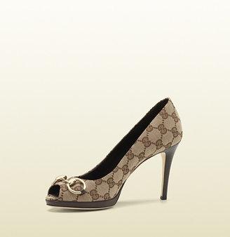 Gucci new hollywood original GG fabric mid-heel pump