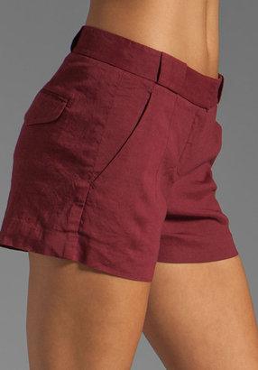 Theory Crunch Roushy L Linen Shorts
