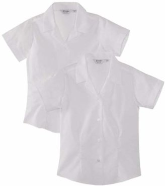 "Trutex Girl's, 2 pack, Fitted Easy Care Plain Blouse,(Manufacturer Size: 30"" Chest)"
