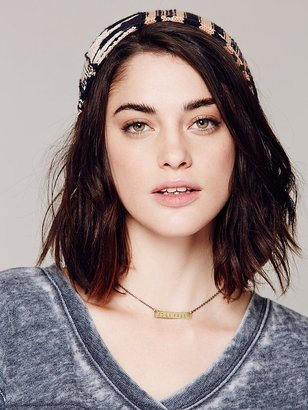Free People Lightweight Embroidered Beanie