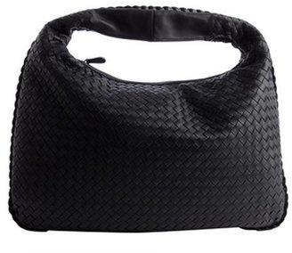 Bottega Veneta navy intrecciato leather 'Veneta' large hobo