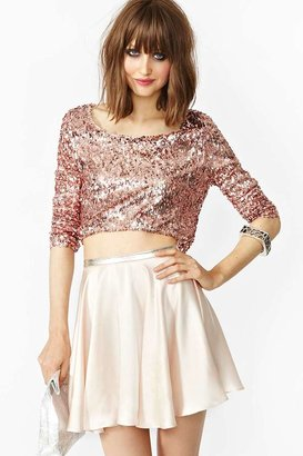 Nasty Gal In Your Dreams Skirt - Blush