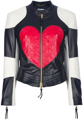 Moschino 'Heart & Peace' biker jacket