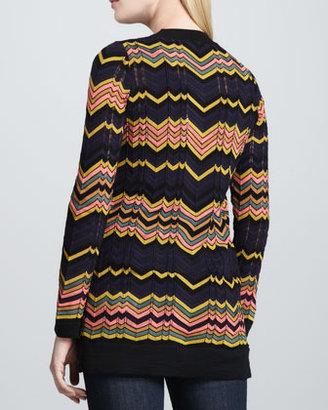 M Missoni V-Neck Zigzag Knit Cardigan