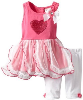 Little Lass Baby-Girls Infant 2 Piece Dress Set with Heart