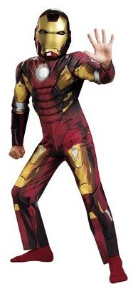 Disguise Boy's Iron Man Mark 7 Avengers Classic Muscle Costume