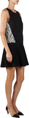 Proenza Schouler Zigzag Jacquard Back Dress