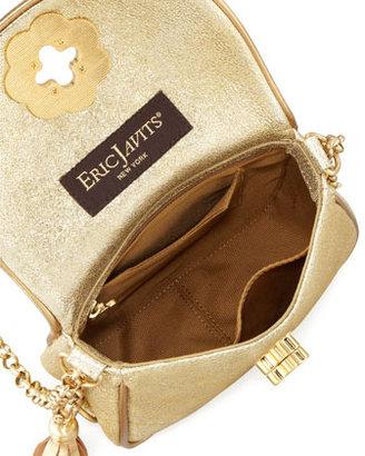 Eric Javits Baby Metallic Shoulder Bag, Gold
