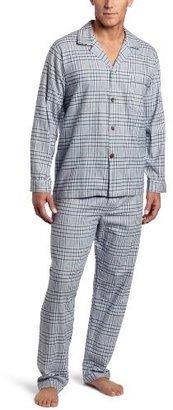 Majestic International Men's Pearces Flannel Long Sleeve Pajama Gift Set