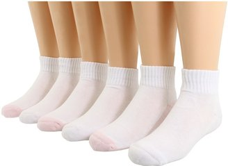 Jefferies Socks Seamless Sport Quarter Sock, 6 Pack, ) Girls Shoes