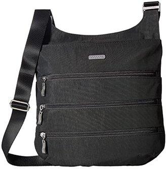 Baggallini Legacy Big Zipper Bagg (Charcoal) Cross Body Handbags