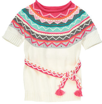 Gymboree Sequin Chevron Stripe Sweater Tunic