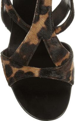 Giuseppe Zanotti Leopard-print calf hair sandals