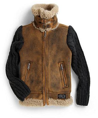 Diesel Boy's Faux Leather Jacket