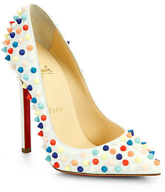 Christian Louboutin Pigalle 120 Multicolor Spiked Leather Pumps