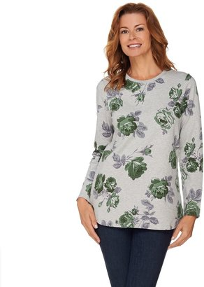 Denim & Co. Active Printed French Terry Tunic