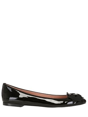 RED Valentino Bow Patent Leather Ballerina Flats