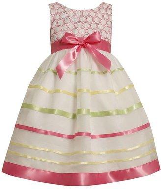 Bonnie Jean striped dot dress - girls 4-6x