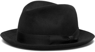Brooks Brothers Tonal Ribbon Fedora
