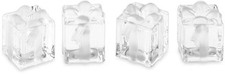 Williams-Sonoma Frosted Glass Gift Box Tiny Taper Holders, Set of 4