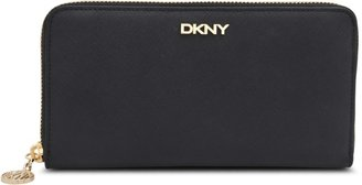 DKNY LG Zip Around Saffiano wallet
