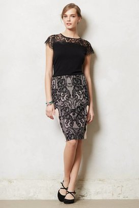 Anthropologie Transposed Lace Pencil Skirt