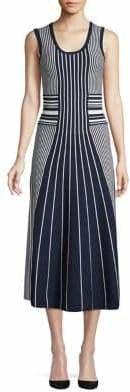 HUGO Striped Midi Dress
