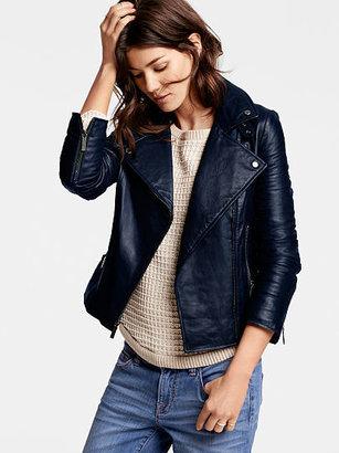 Victoria's Secret Leather Moto Jacket