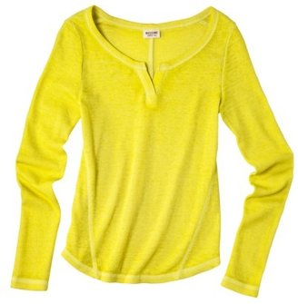 Mossimo Juniors Long Sleeve Henley - Assorted Colors