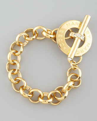Marc by Marc Jacobs Logo Toggle Bracelet, Yellow Golden
