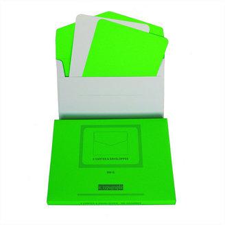 Le Typographe Fluorescent Card Set Green