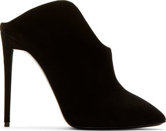 Giuseppe Zanotti Black Suede Olinda Heels