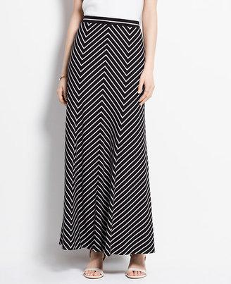 Ann Taylor Mitered Stripe Maxi Skirt