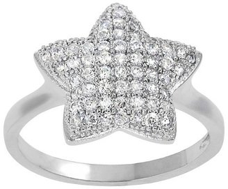 Cubic Zirconia Star Ring in Sterling Silver - Silver