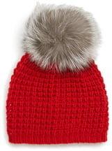 KYI KYI Genuine Fox Pompom Hat