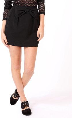 Forever 21 Bow Accent Miniskirt