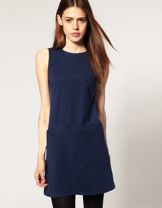 Asos 60s Shift Dress with Round Neck